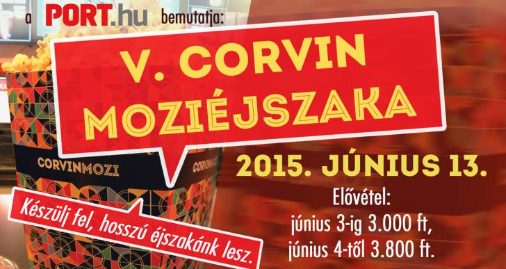 Jön az V. Corvin moziéjszaka!
