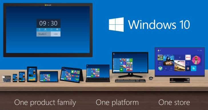 Láthatáron a Windows 10