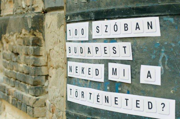 Pályázz idén is: újra indul a 100 szóban Budapest
