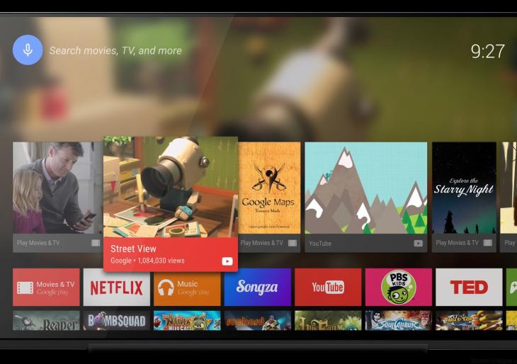Android már a tévében is
