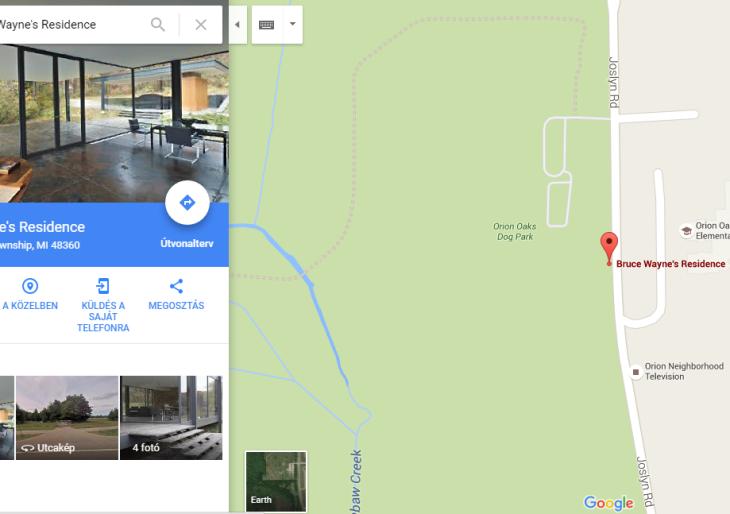 Nézd meg Batman barlangját kívül-belül a Google Mapsszel!