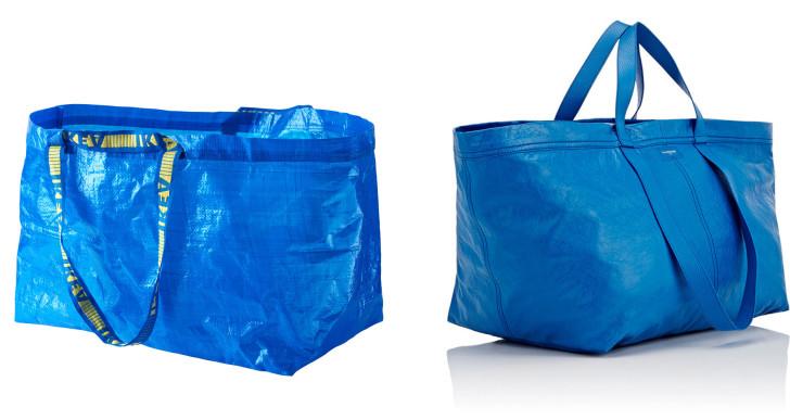Ikea vs Balenciaga: 600000 forintért árulja a nagy kék táskát a luxusmárka