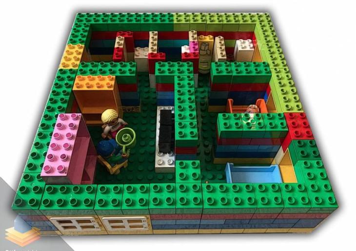 Legóból építette meg lakáshirdetéséhez az alaprajzot