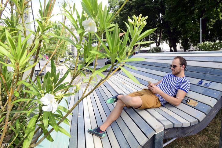 Pop up pihenőpark épült a Városháza parkban