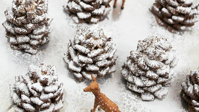 A tél sztárja: toboz alakú süti