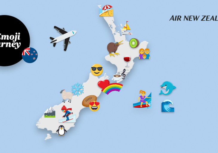 Emoji térkép készült Új-Zéland látnivalóiról