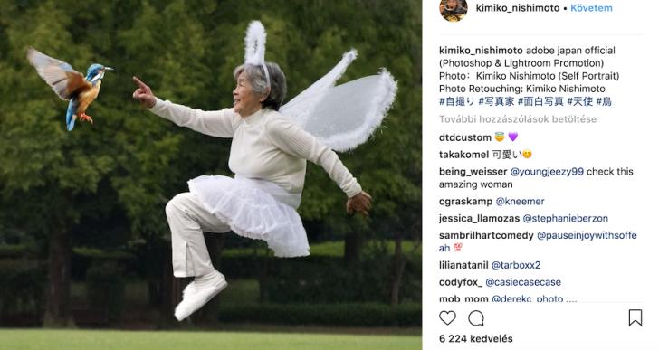 90 éves japán nagyi az Instagram új sztárja