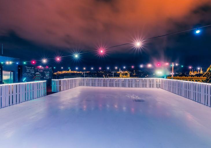 Ismét megnyílt Budapest legmagasabb korcsolyapályája