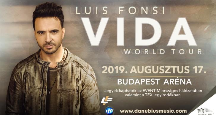 Ismét Budapestre jön Luis Fonsi