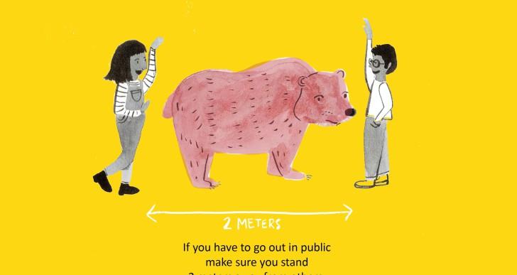 Három puli vagy egy medve: kötelező távolságtartás Covid idején